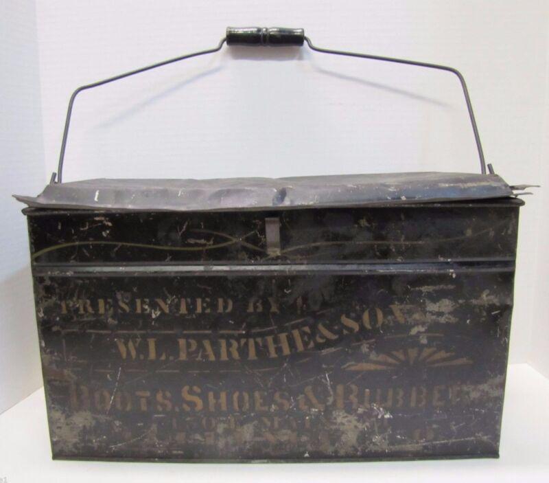 Antique PARTHE & SONS BOOTS SHOES RUBBERS Shoemakers Box Alliance OHIO