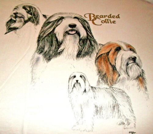 "Bearded Collie T-shirt  "" White "" 3XL ( 54 - 56 )"