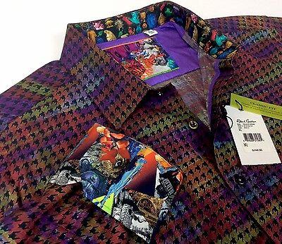 Robert Graham Men Vintage Geometric Patterned Jacquard Sport Shirts Classic Fit