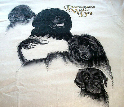 "Portuguese Water Dog T-shirt  "" Natural "" 3XL ( 54 ~ 56 )"
