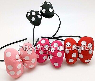 4 PCS Polka Dots Headbands Bow Cute Girls Hair Accessories Minnie Mouse Hairband