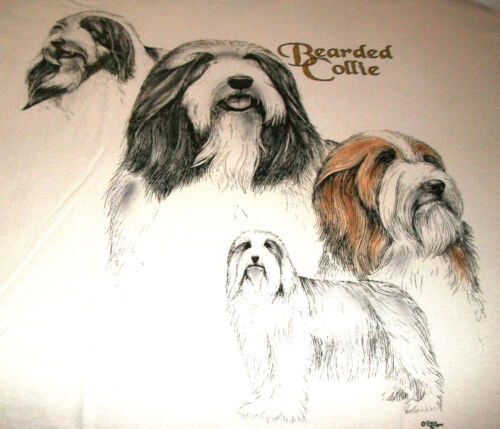 "Bearded Collie Sweatshirt  "" Natural "" MED ( 38 ~ 40 )"