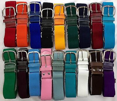 Baseball Softball Elastic Adjustable Belt Various Colors Youth Adult Adult Adjustable Elastic Belts