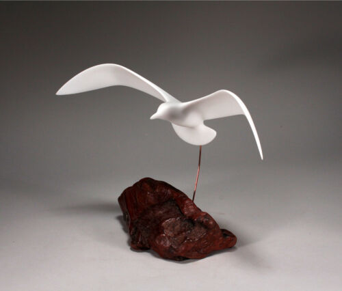 """Seagull Statue Flying New Direct from JOHN PERRY """"Down-wing"""" Large Sculpture"""
