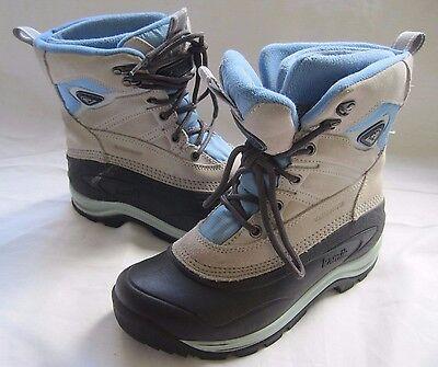 Womens Kamik Waterproof Pedigree Warm Winter Leather Boots 7 Rubber Wool Inserts