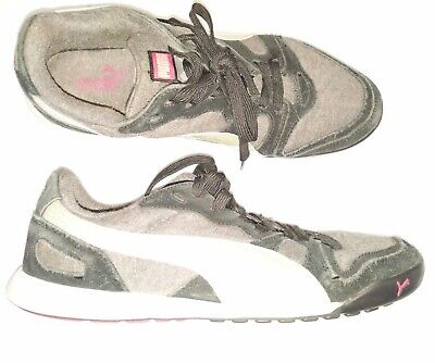 Womens Size 7 Puma Gray And Pink Running Shoes