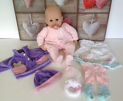 Zapf Creations Baby ANNABELL DOLL Feeds Sucks  Bottle Interactive Sounds