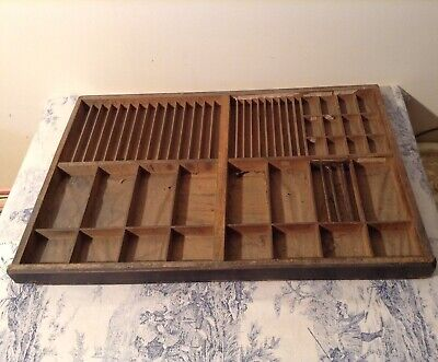 Vintage French Wooden Printers Letterpress Typeface Drawer - Print Tray (3965)