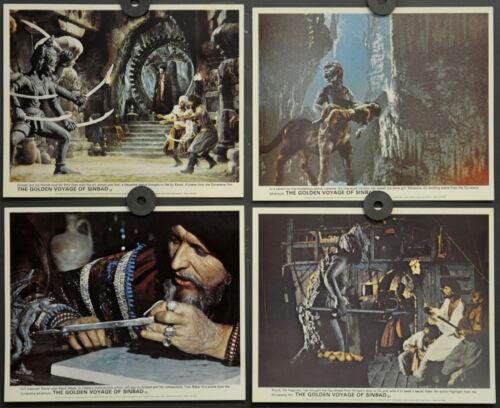 GOLDEN VOYAGE OF SINBAD 1973 ORIG  8X10 UK FOH LOBBY CARD SET RAY HARRYHAUSEN