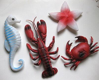 PLASTIC LOBSTER CRAB SEAHORSE STARFISH LUAU TABLE DECORATION OCEAN SEA FISH - Luau Decoration