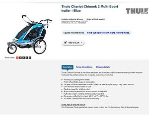 Double stroller, top of the line, THULE