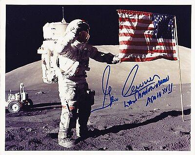 Apollo 17 Astronaut Gene Cernan  8x10 Signed Kodak Print of NASA