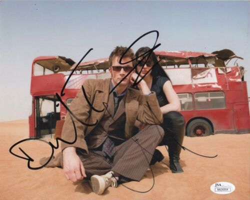 David Tennant Michelle Ryan Doctor Who Autographed Signed 8x10 Photo JSA COA #2