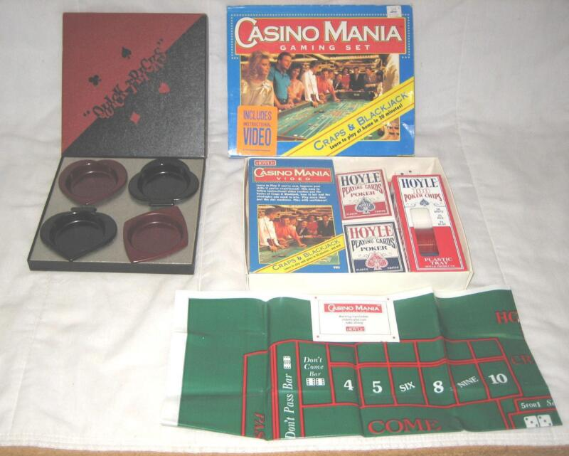 LOT OF 2 1994 HOYLE CASINO MANIA GAMING SET & QUICK TRICKS COASTER SET