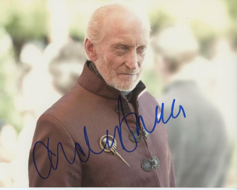 """Charles Dance """"Game of Thrones"""" AUTOGRAPH Signed 8x10 Photo ACOA"""