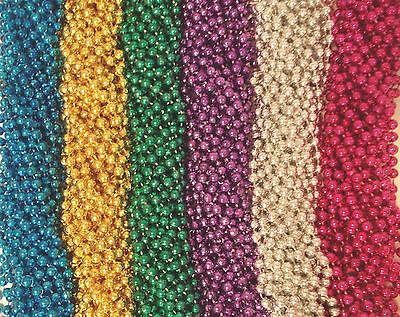 36 Asst 6 Colors Mardi Gras Beads Party Favors Huge Lot 3 - Mardi Gras Party Favors