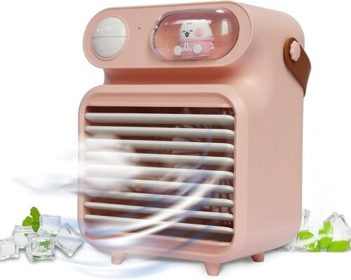 CuFun portable air conditioner 4000mAh/rechargeable ice cooling fan with 3 speed