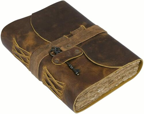 Handmade Rustic Leather Journal Notebook Bound Writing Diary Sketch Deckle Book