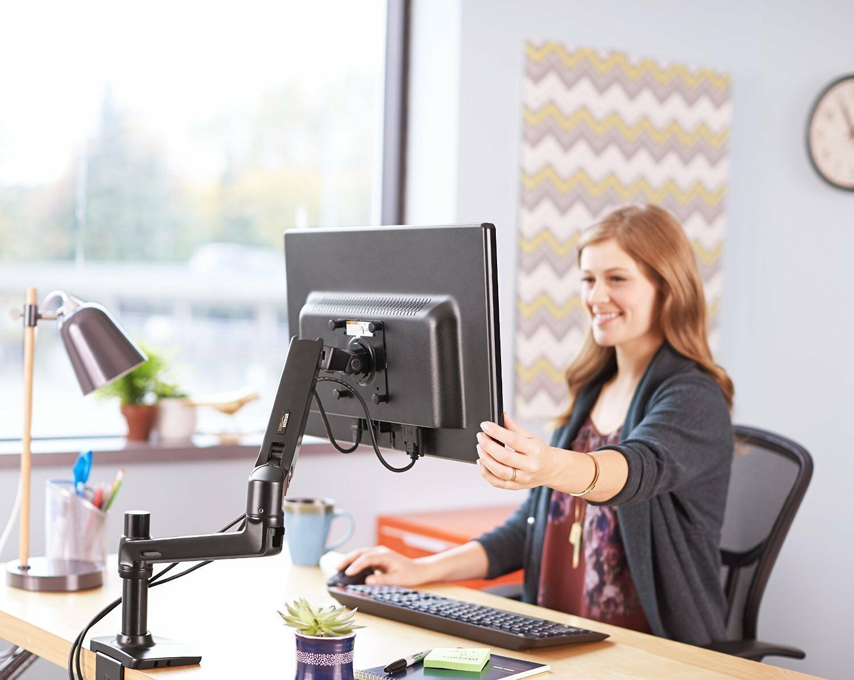 Single TV Computer Monitor Desk Articulating Mount Arm -  St