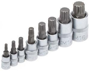 Steckschlüssel Satz 8-tlg Innen Vielzahn Nüsse M4-M16 Vielzahnschlüssel Nuss BGS
