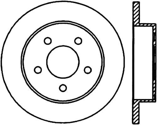 Disc Brake Rotor C Tek Standard Rear Centric 121 61042 Fits 94 04