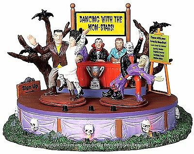 Lemax 94957 DANCING WITH THE MON-STARS Spooky Town Table Accent Animated Decor - Dancing With Stars Halloween