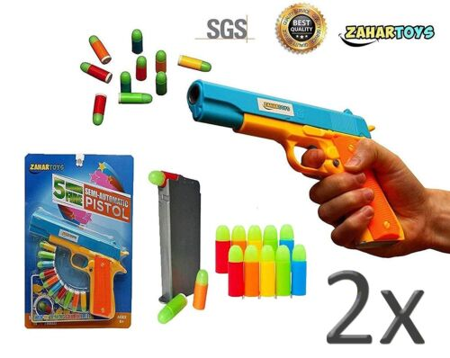 ZAHAR Toys Realistic Colt 1911 Toy Gun with 10 Colorful Soft Bullets