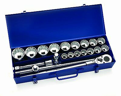 "Williams 33901 20 Pieces 3/4"" Drive Socket Set in Metal Box SAE"