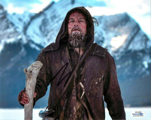 Leonardo DiCaprio Signed The Revenant 8x10 Photo Proof ACOA