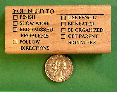 You Need To - Teacher's Math/Science Wood Mouonted Rubber Stamp