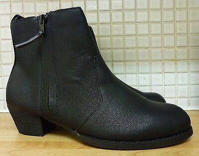 H&M Women's Girls Zip Imitation Leather Ankle Zip Boots 5/38 Black Uk Freepost