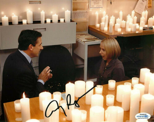Amy Ryan Signed The Office 8x10 Proposal Photo w/ Steve Carrell ACOA Garage Sale