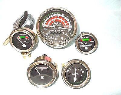 Gauge Tachometer Set For Massey Ferguson Mf Tractor Mf35 Mf50 Mf65 To35 F40 Mh50
