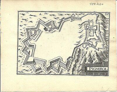 Antique map, Pignerol (Pinerolo)