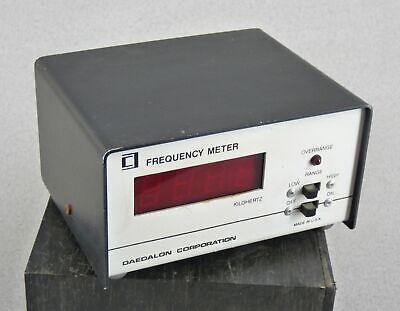 Daedalon Eg-15 Frequency Meter Kilohertz Free Shipping Lab Equipment