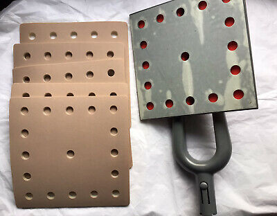 Dustless Flat Sander Square 8x8 Head Only 5 Hook Loop Sandpaper Grit Bero