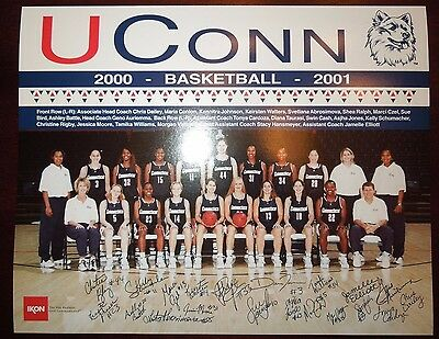 UCONN HUSKIES WOMENS BASKETBALL 2000-2001 8x10 ~DIANA TAURASI ROOKIE! ~SUE BIRD