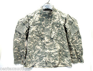 Army-Issue-Combat-Uniform-50-50-ACU-Shirt-Jacket-Small-Long-Grade-B