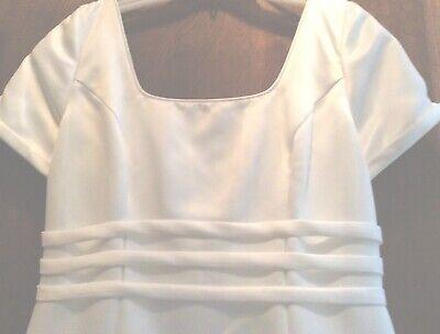 Designer Elegance—Satin Wedding Gown w/ French Bustle by PALOMA BLANCA-size 12