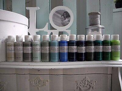 Blau Mint Grau Grün Farbe Bastelfarbe shabby chic Vintage (Mint Blau Farbe)