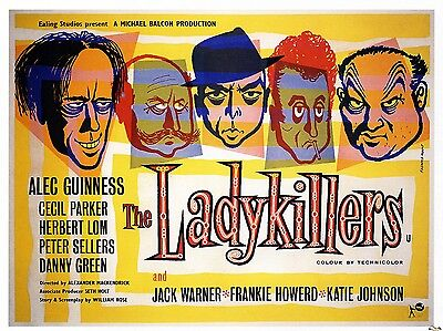 """The Ladykillers 1955 16"""" x 12"""" Reproduction Movie Poster Photograph"""