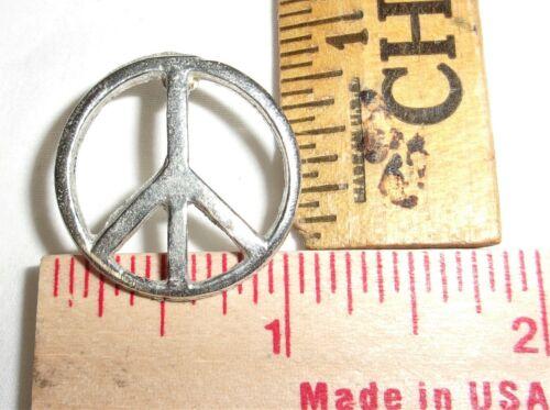 "vintage ""Peace Sign"" pin collectible old ""Hippy"" -NO WAR- pinback"