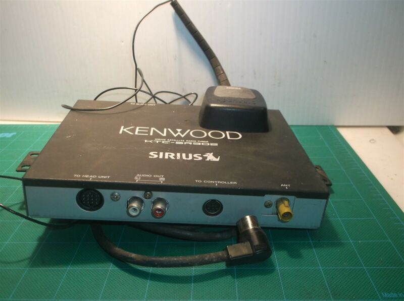 Kenwood KTC-SR902 Sirius Satellite Tuner With Antenna And Wires As Is Not Tested