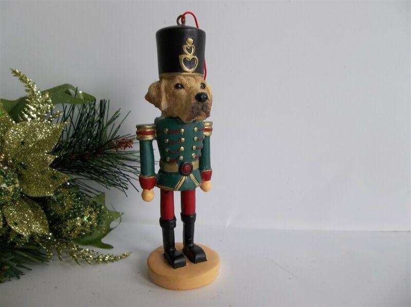 Dog Christmas Ornament Golden Labrador Yellow Nutcracker E&S