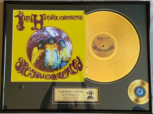 "Jimi Hendrix ""Are You Experienced"" Limited Edition 24KT Gold Plated Record Album"