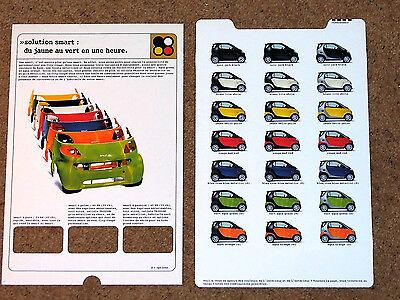 1998 SMART City Coupe COLOURS & TRIMS Brochure - Pure Pulse Passion (FRENCH)