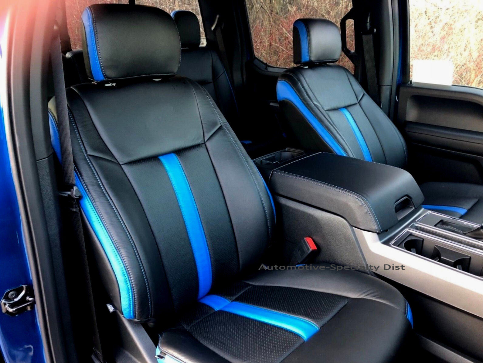 Katzkin Black Amp Cobalt Leather Seat Cvrs Fit 2015 2018