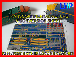 TRIANG-RAILWAYS-R159-R257-TRANSCONTINENTAL-LOCO-VICTORIAN-RAILWAYS-REFURB-SET