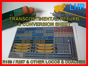 TRIANG RAILWAYS R159 R257 TRANSCONTINENTAL LOCO VICTORIAN RAILWAYS REFURB SET