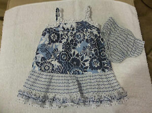 Baby-Girls-EUC-Old-Navy-Dress-With-Matching-Diaper-Cover-Size-3-6-Months